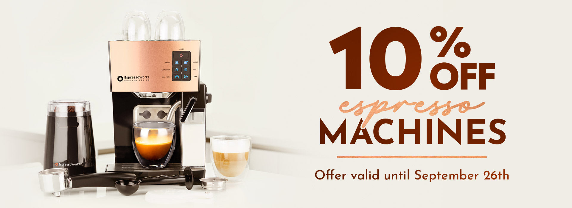 EspressoWorks September Coffee Machine Madness: Save 10% Off all of our All-In-One Coffee Machine Sets