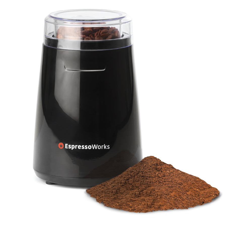 Grind your favorite coffee beans easily with the EspressoWorks Electric Coffee Grinder