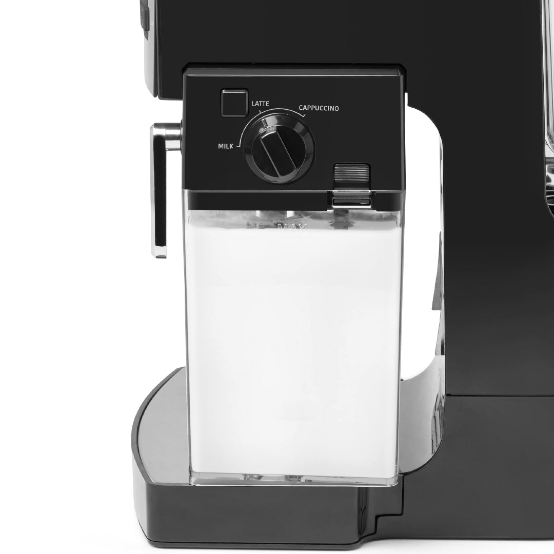 Milk Tank in place in the 10-piece 19-bar EspressoWorks Espresso & Cappuccino Maker Set