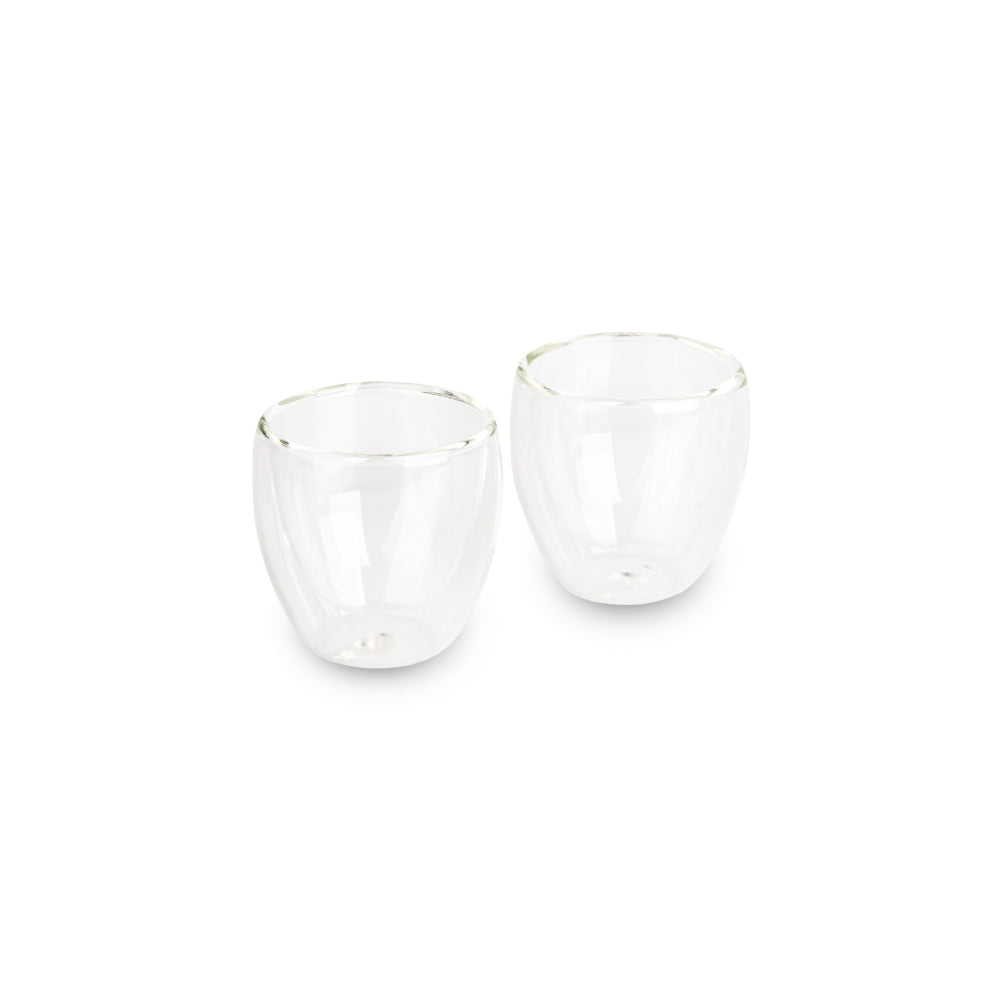Set of 2 Premium Double Wall Espresso Cups 80ml by EspressoWorks
