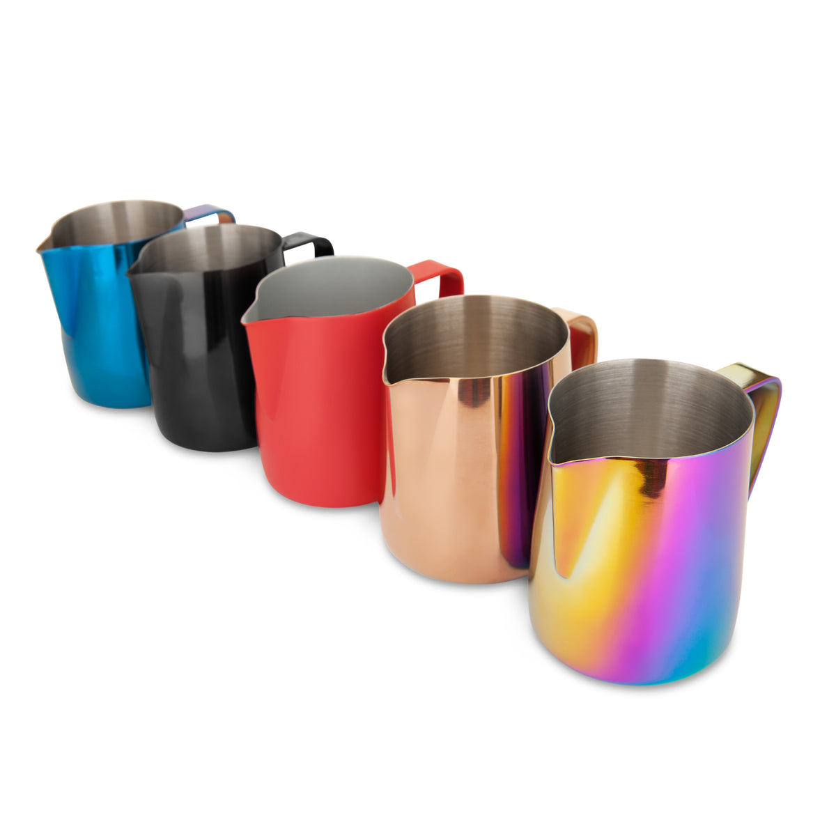 All colors of the EspressoWorks Stainless Steel Milk Frothing Jug