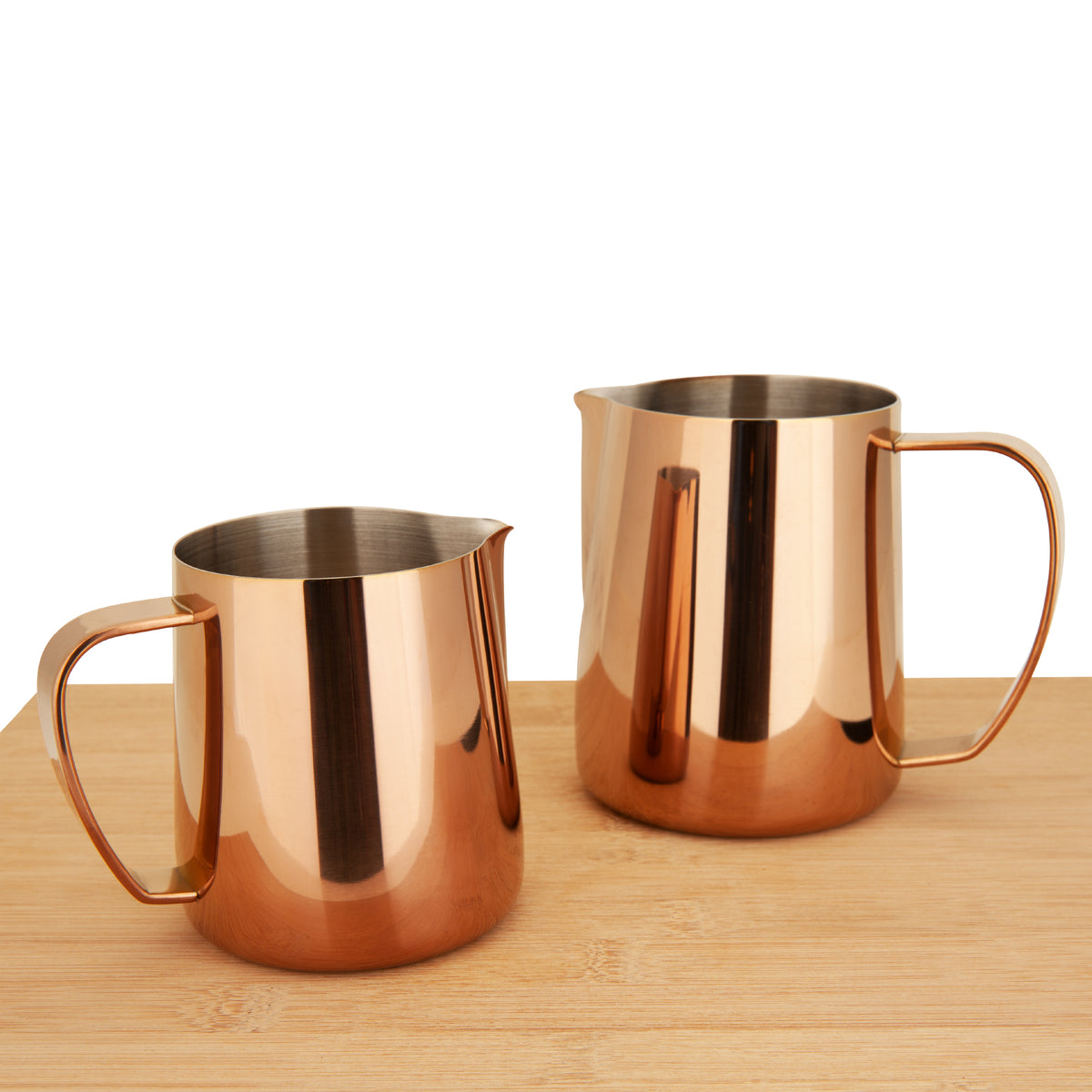 EspressoWorks Stainless Steel Milk Frothing Jug - Rose Gold (350ml and 600ml)
