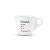 "EspressoWorks Ceramic Espresso Cup with ""Should I Have More Espresso"" Quote"