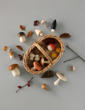 Open image in slideshow, Forest Mushrooms Basket