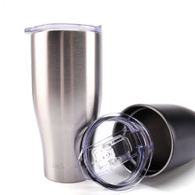 Load image into Gallery viewer, Jacklamart Insulated Steel Tumbler with 24-Hour Heat & Cold Stability – Silver & Black