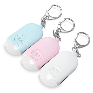 Jacklamart Rechargeable Portable SOS Alarm Tether for The Elderly, Women & Children