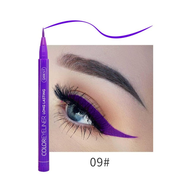 Colorfull Waterproof Matte Eye Cosmetics Eye Liner