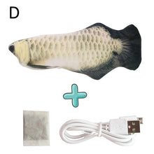 Load image into Gallery viewer, New 30CM Electronic Pet Cat Toy Electric USB Charging Simulation Bouncing Fish Toys For Cat Chewing Playing Biting Supplies