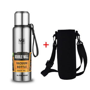 Upors Large Capacity Stainless Steel Thermos Portable Vacuum Flask Insulated Tumbler