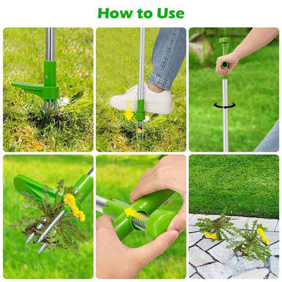 Long Handle Weed Remover Durable Garden Lawn Weeder