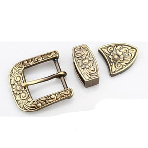 7 High Quality Belt Buckle Pin buckle solid brass Copper carved 35/40mm inner width leather craft Heavy belt Accessories DIY