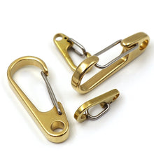 "将图片加载到图库查看器,M3 1x Pure Brass Curtain Clasp Split Key Ring Hook Chain Loop Key Ring Keychain Strap Wallet Bag Leather Belt Hooks 1"" 1-1/4"" 2"""
