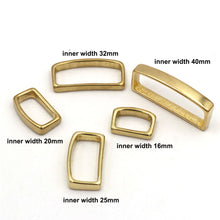 将图片加载到图库查看器,M16 2 Pcs Solid Brass Belt Keeper D Shape Belt Strap Loop Ring Buckle for Leather Craft Bag Strap Belt 16mm 20mm 25mm 32mm 40mm