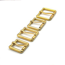 将图片加载到图库查看器,Z5  Brass Metal Heel Bar Buckle End Bar Roller Buckle Rectangle Single Pin for Leather Craft Bag Belt Strap 4 sizes available