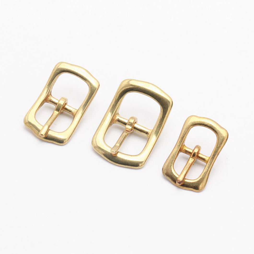 Z7 1 x Solid Brass Belt Buckle Tri Glide Middle Center Bar Buckle for Leather Craft Bag Strap Garment Belt Bridle Halter Harness