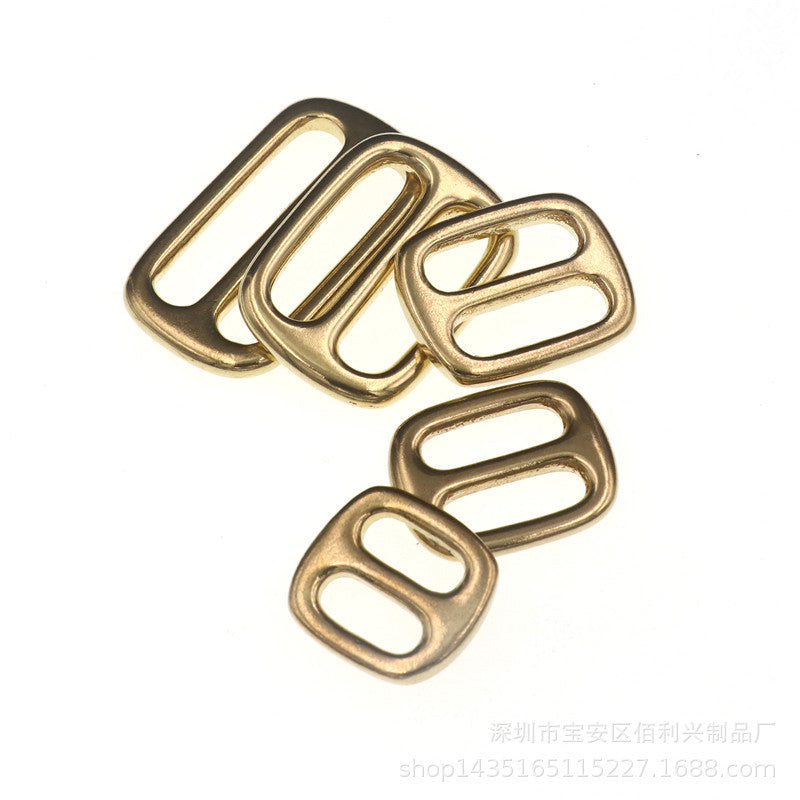 M25 Solid Brass Tri Glides Slide 3 Bar Rectangle/Square Adjuster Buckle for leather craft Bag Shoulder Strap Belt Webbing