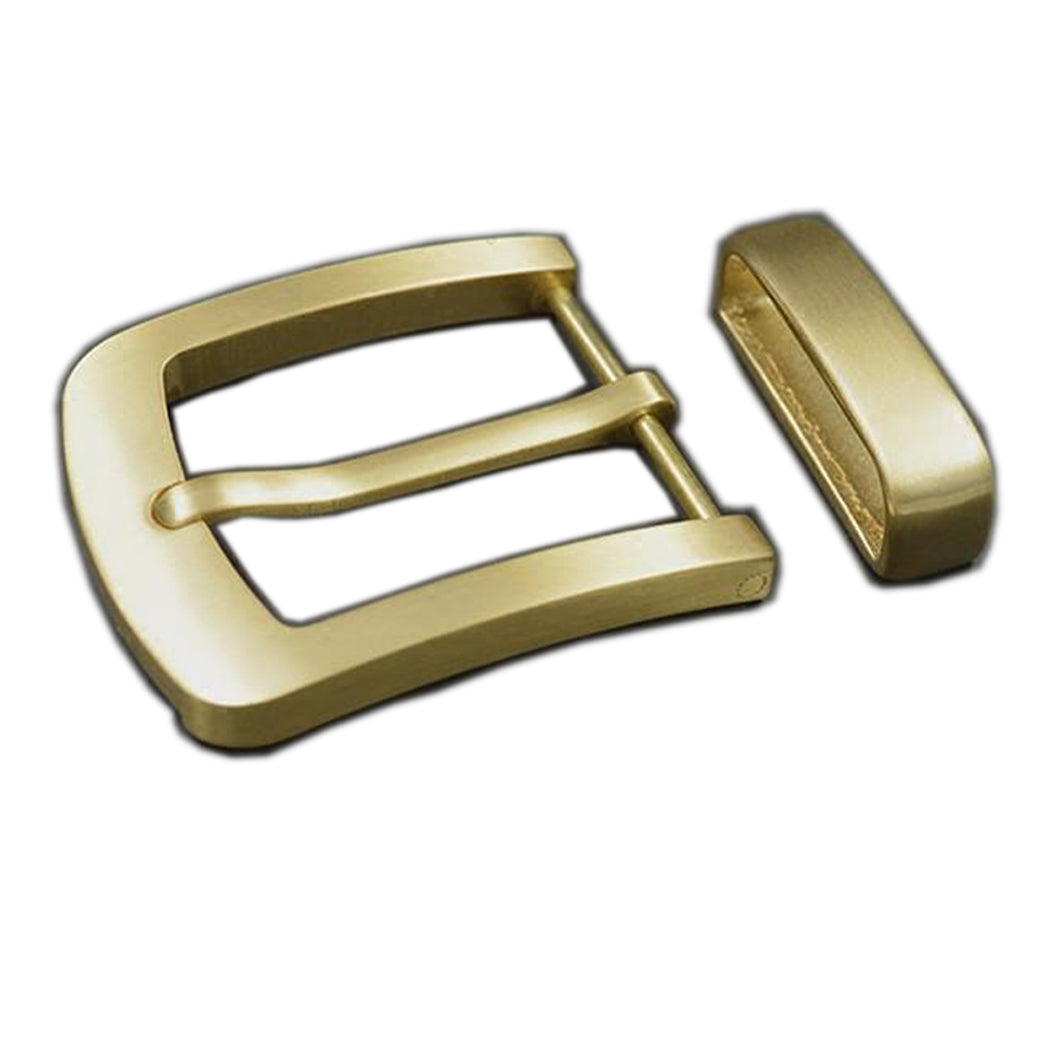 7.1 Wide Brass Belt Buckles Men's Waist Buckle Head Cowboy Buckle Belt Clips Buttons DIY Jeans Accessories Leather Craft