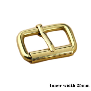 Z3 Brass Metal Heel Bar Buckle End Bar Roller Buckle Rectangle Single Pin for Leather Craft Bag Belt Strap Webbing 3sizes available
