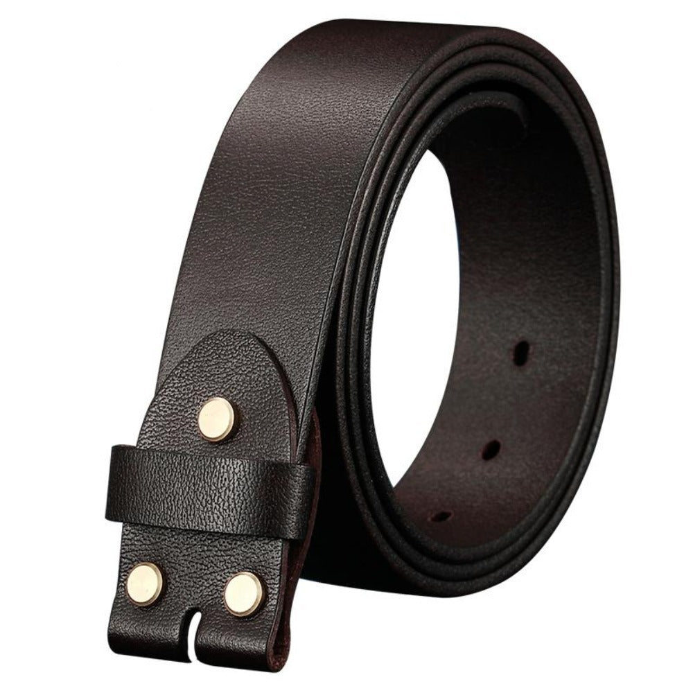 4 Men's width 38mm 100% Full Grain Genuine Leather Belts for Men Fashion Brand Strap Vintage Jeans Belts without Buckle