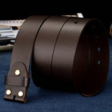 Load image into Gallery viewer, 4 Men's width 38mm 100% Full Grain Genuine Leather Belts for Men Fashion Brand Strap Vintage Jeans Belts without Buckle