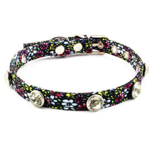 Load image into Gallery viewer, 8.2 1Floral Rhinestones Dog Collar Fashion Retro Collar For Small Dogs Puppies Pup Mini Teddy Samoyed Yorkie Pet Accessories