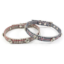 将图片加载到图库查看器,8.2 1Houndstooth Rhinestones Cat Collar Fashion Retro Collar For Cats Kitten Puppies Pup Cat Supplies Accessories For Pet Puppy