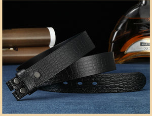 4 Designer Belt Men No Buckle High Quality Male Genuine Leather Strap Luxury Belt Without Buckle Wide 3.8cm Ceinture Homme