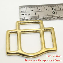 将图片加载到图库查看器,7.1 Solid Brass Horse Halter Square 3-Sided Halter Bridle Buckles Equestrian equipment Leather Craft DIY Hardware Accessory