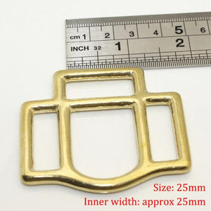 7.1 Solid Brass Horse Halter Square 3-Sided Halter Bridle Buckles Equestrian equipment Leather Craft DIY Hardware Accessory