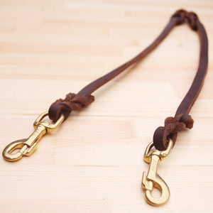 8 Luxury Two Way Leather Dog Leash Coupler Pets Accessory Cow Leather Rope No Tangle Double Dog Walker Training Leash