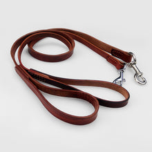 将图片加载到图库查看器,8 Pet Supplies Genuine Leather Dog Leash Pitbull German Shepherd Training Walking Dog Chain with Strong Metal Buckle 120cm length