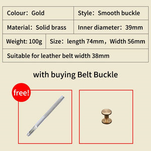 0 Luxury Gold Series Metal Belt Buckle Western Cowboy Boots Shoes Buckles Fit 4cm Wide Belt Men,Women Jeans,Clothes accessories
