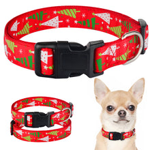 Load image into Gallery viewer, 91 Small Medium Large Dog Christmas Dog Collar Pet Puppy Adjustable Nylon Red S-XL