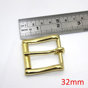 Z2 Brass Belt Roller Buckle End Bar Heel bar Buckle Single Pin Half Belt Buckle Leather Craft Bag Strap Jeans Webbing Dog Collar