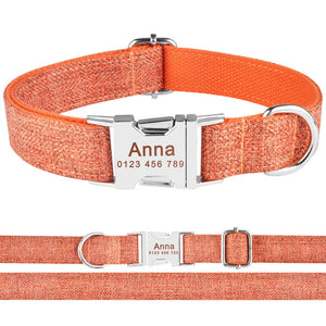 99 Adjustable Dog Collar Personalized Name Engraved Nylon Small Medium Large Dogs