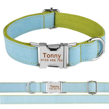 将图片加载到图库查看器,99 Adjustable Dog Collar Personalized Name Engraved Nylon Small Medium Large Dogs
