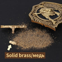 Load image into Gallery viewer, 1 Retail New Style High Quality 3D Bull Solid Brass Men Belt Buckle With 85*61mm 141g Metal Cowboy Belt Head For 3.8cm Wideth Belt