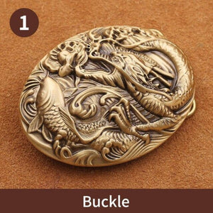 1 Luxury Solid brass  Belt Buckle Fashion Cowboy Buckles For 4cm Wide Belt Men Jeans accessories