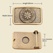 Load image into Gallery viewer, 1  belt buckle with Solid Copper Brass metal cowboy belt head woman man Jeans Jewelry accessories Fit 4cm Wide Belt