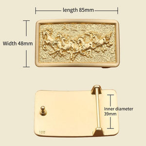 1 Cowboy Belt Buckle With Gold Color 3D Solid Copper Brass Buckles suitable for 4cm belt with stock