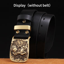 Load image into Gallery viewer, 0 Solid Brass belt buckle Belt loop Light metal anti-allergic to Skin men belt accessories for belts DIY Leather Craft