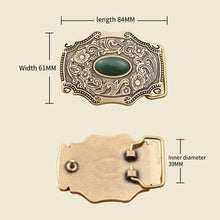 Load image into Gallery viewer, 1 Flower embossed Solid brass Belt Buckle Luxury Cowboy Buckles Fit 4cm Wide Belt Man,women Clothes Pants Accessories