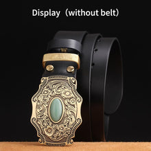 将图片加载到图库查看器,1 Flower embossed Solid brass Belt Buckle Luxury Cowboy Buckles Fit 4cm Wide Belt Man,women Clothes Pants Accessories