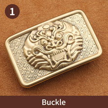 Load image into Gallery viewer, 0 Wholesale Brand High Quality Solid brass Belt Buckle Men&Women brass Smooth Buckles For Band width 3.8cm Belt Accessories Gift