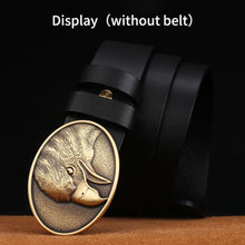 Load image into Gallery viewer, 1 Retail Latest styles Solid brass 3D Eagle Head Cowboy belt buckle With Fashion Man Jeans Accessories Cosplay For 4cm Width belt