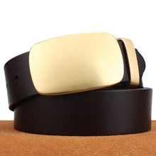 将图片加载到图库查看器,3 Men Belts High Quality 100% Genuine Leather Belts Men Cowboy Cowhide Belts Strap Husband Father Gift