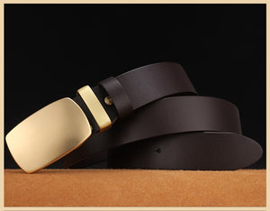 3 Men Belts High Quality 100% Genuine Leather Belts Men Cowboy Cowhide Belts Strap Husband Father Gift