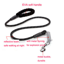 将图片加载到图库查看器,8 Durable Nylon Dog Leashes EVA Soft Handle Dog Rope Explosion Proof Spring Reflective Training Leads Cheap Petshop Products