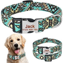 Load image into Gallery viewer, 92 Personalised Dog Collar Pet Custom Engraved Name ID Tag For Boy Girl Dogs S M L