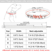 Load image into Gallery viewer, 96 DIY Bling Personalized Dog Collar Rhinestones Leather Free Name Small Medium Pet
